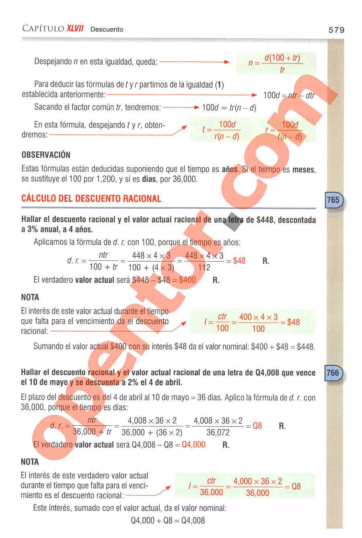 Aritmética de Baldor - Página 579