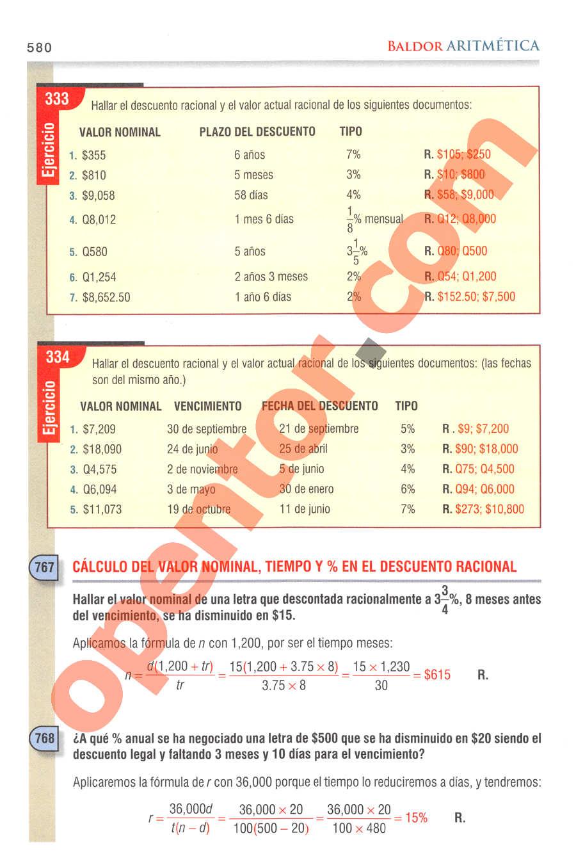 Aritmética de Baldor - Página 580