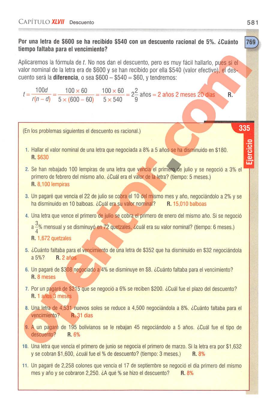 Aritmética de Baldor - Página 581