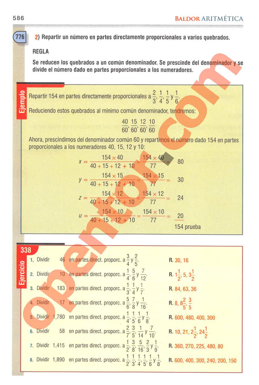 Aritmética de Baldor - Página 586