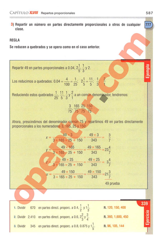 Aritmética de Baldor - Página 587