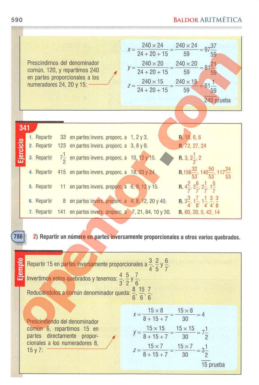 Aritmética de Baldor - Página 590