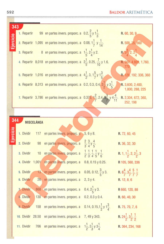 Aritmética de Baldor - Página 592