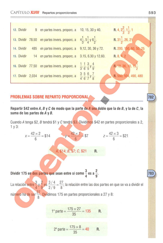 Aritmética de Baldor - Página 593