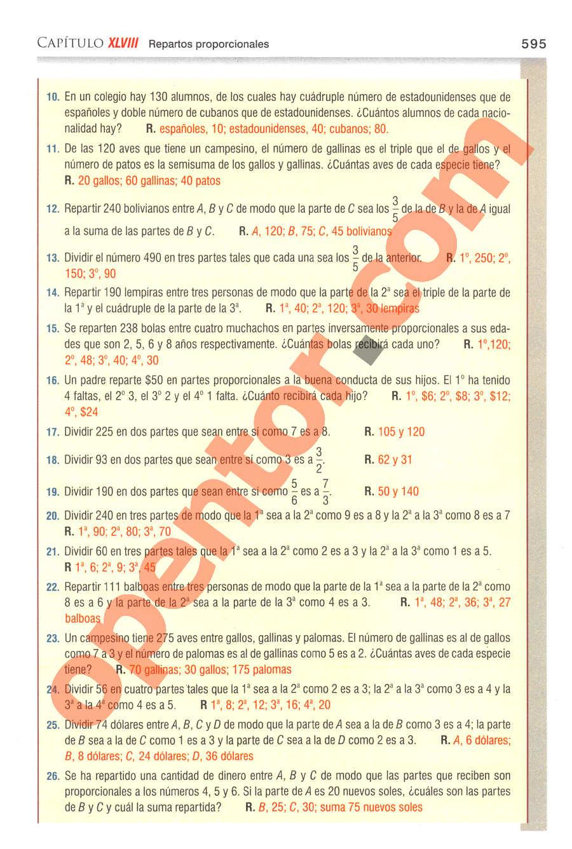 Aritmética de Baldor - Página 595