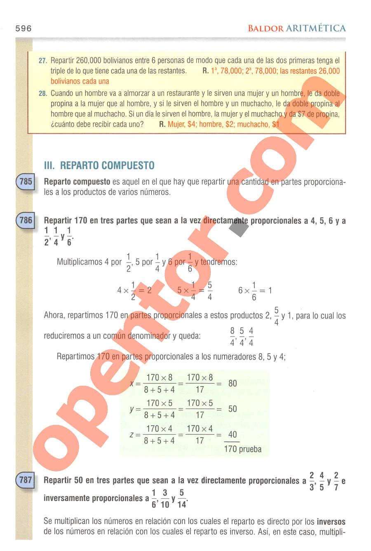 Aritmética de Baldor - Página 596