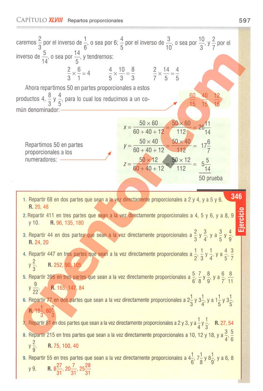 Aritmética de Baldor - Página 597