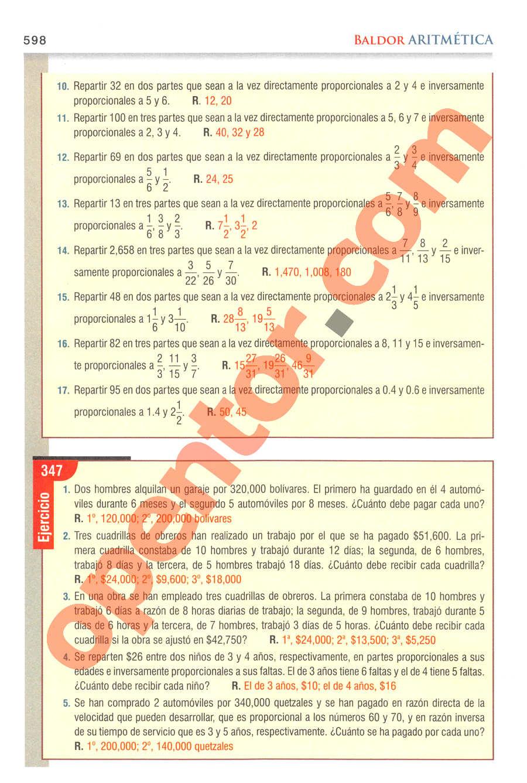 Aritmética de Baldor - Página 598