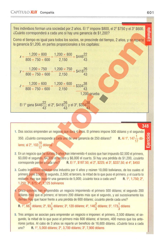 Aritmética de Baldor - Página 601