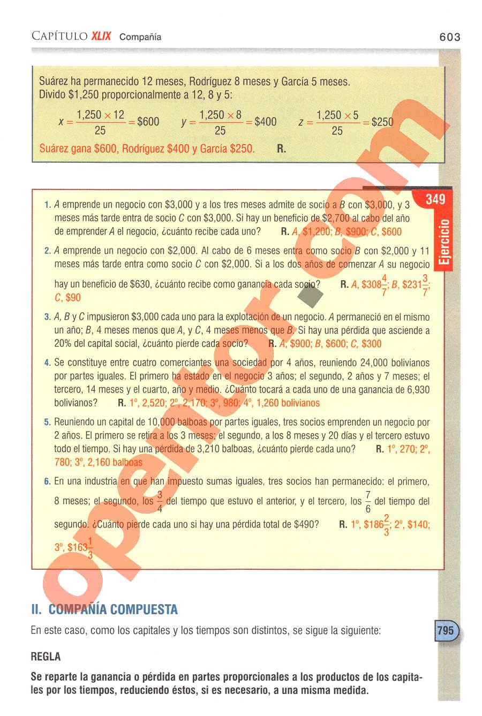 Aritmética de Baldor - Página 603