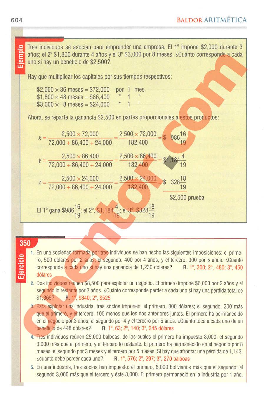 Aritmética de Baldor - Página 604