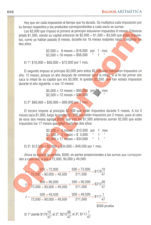 Aritmética de Baldor - Página 606