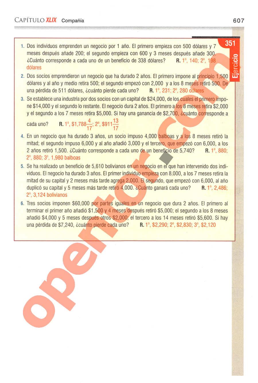 Aritmética de Baldor - Página 607