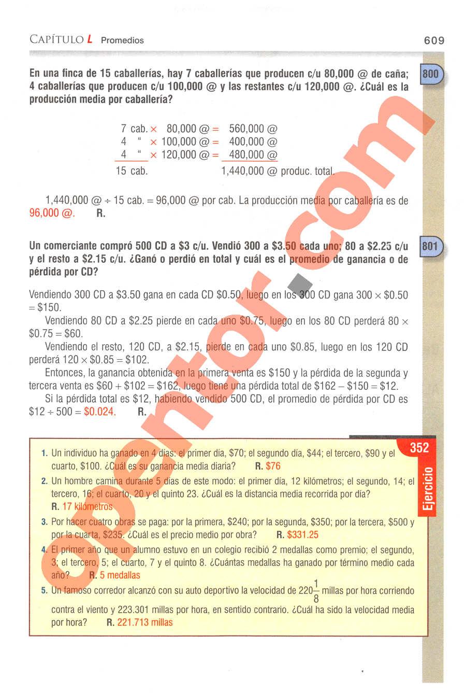 Aritmética de Baldor - Página 609