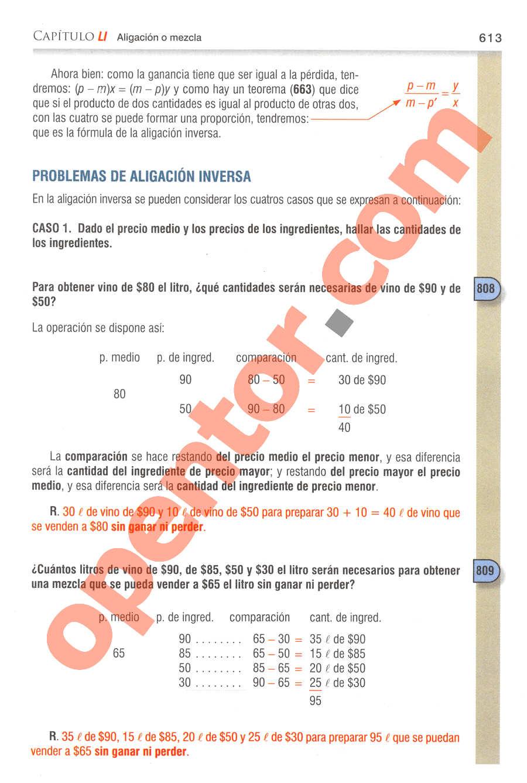 Aritmética de Baldor - Página 613