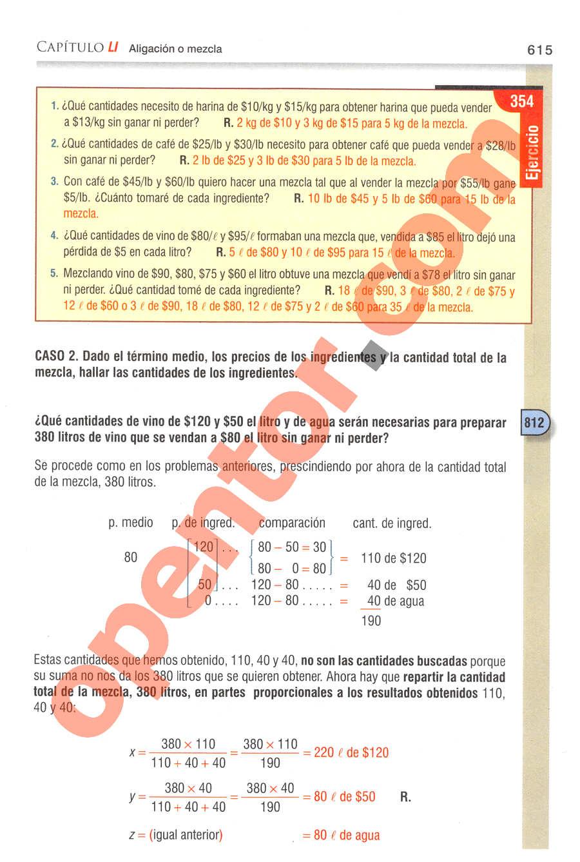 Aritmética de Baldor - Página 615