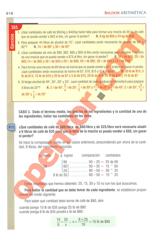 Aritmética de Baldor - Página 616