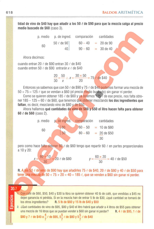 Aritmética de Baldor - Página 618