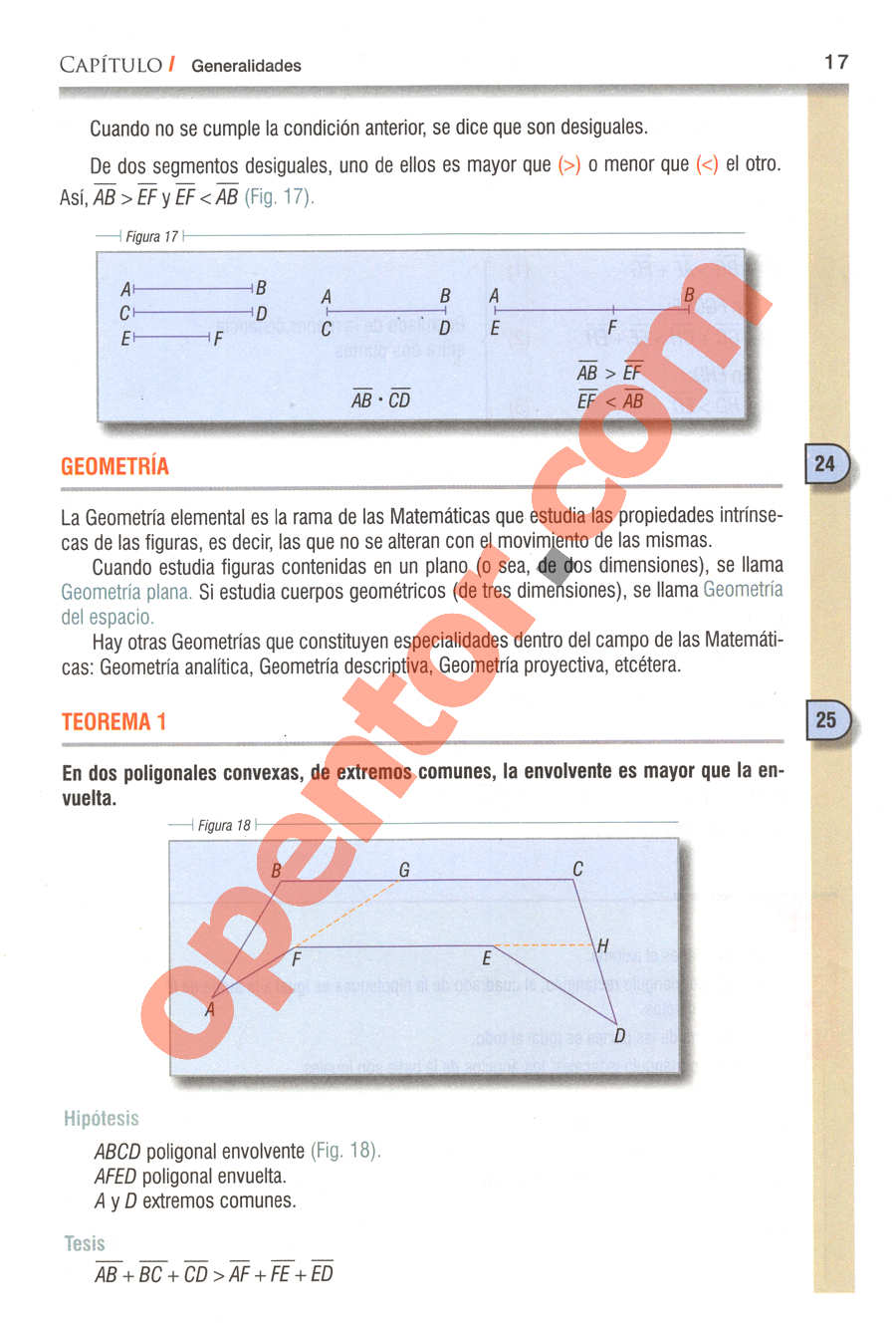 Geometría y Trigonometría de Baldor - Página 17