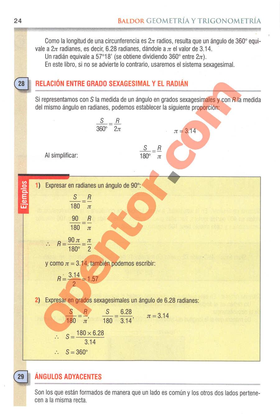 Geometría y Trigonometría de Baldor - Página 24
