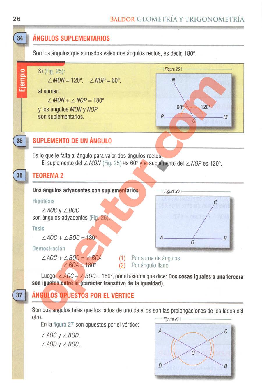 Geometría y Trigonometría de Baldor - Página 26