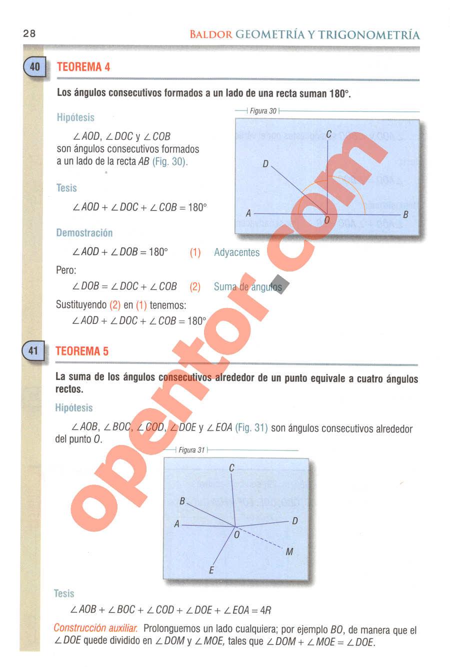 Geometría y Trigonometría de Baldor - Página 28