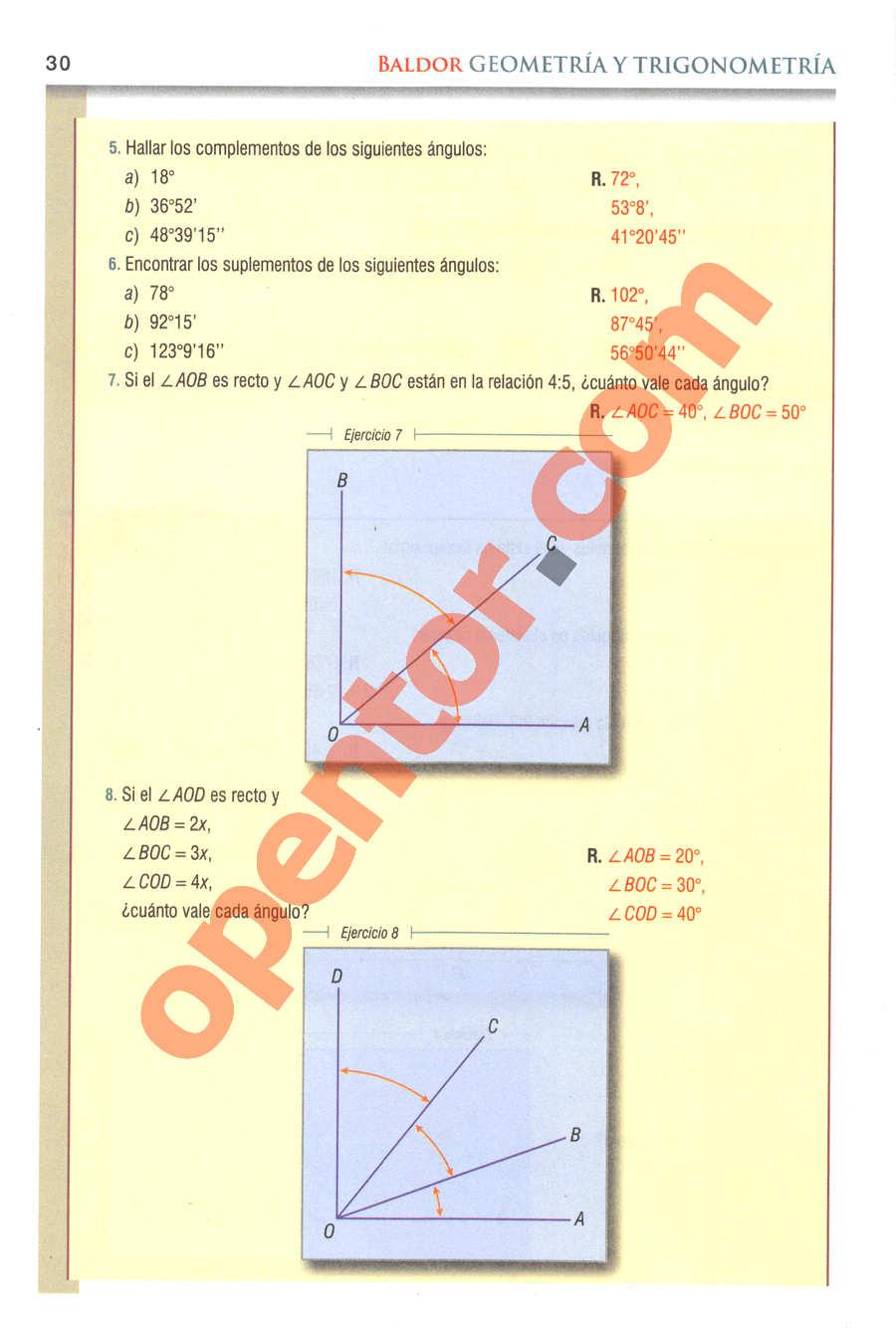 Geometría y Trigonometría de Baldor - Página 30