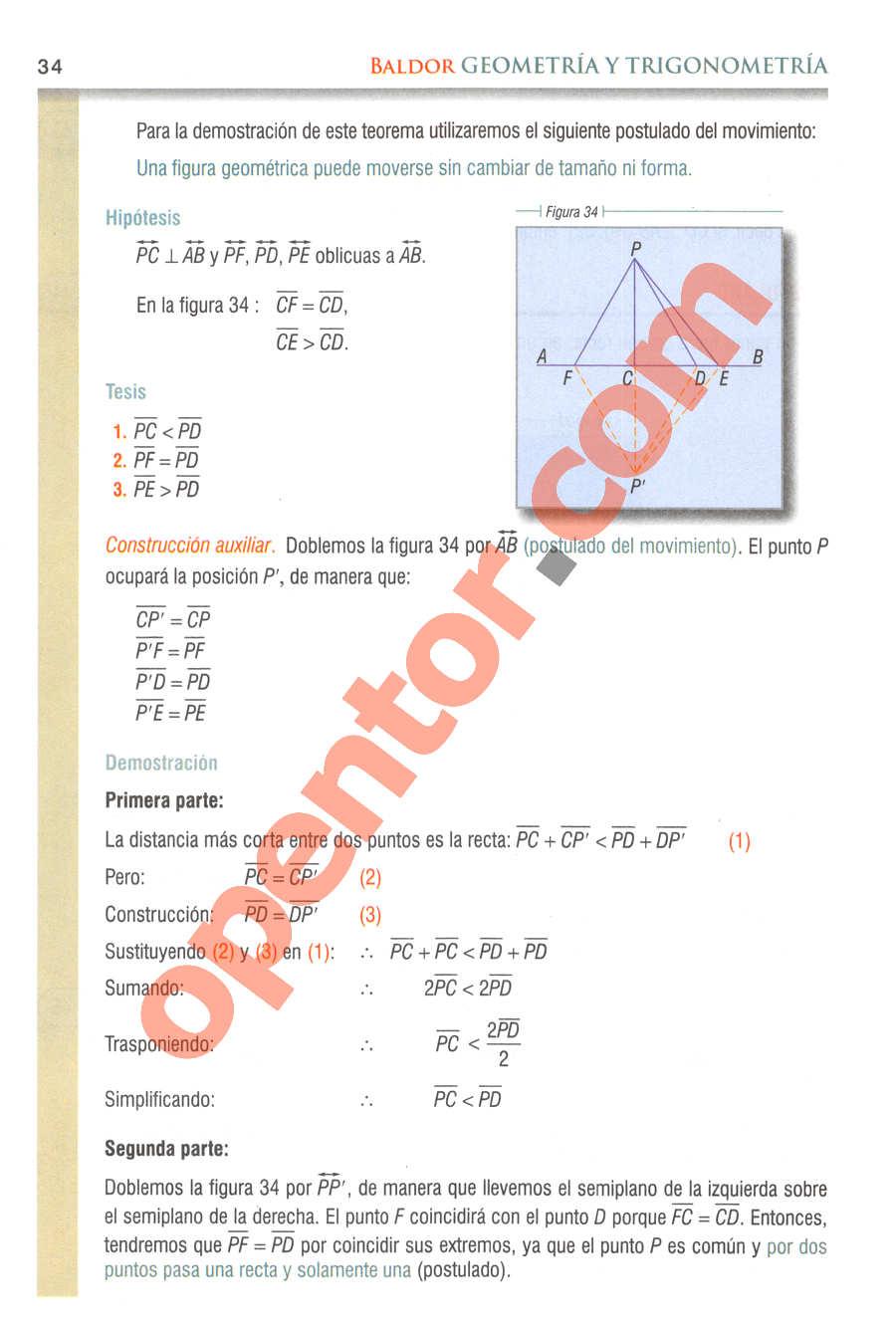 Geometría y Trigonometría de Baldor - Página 34