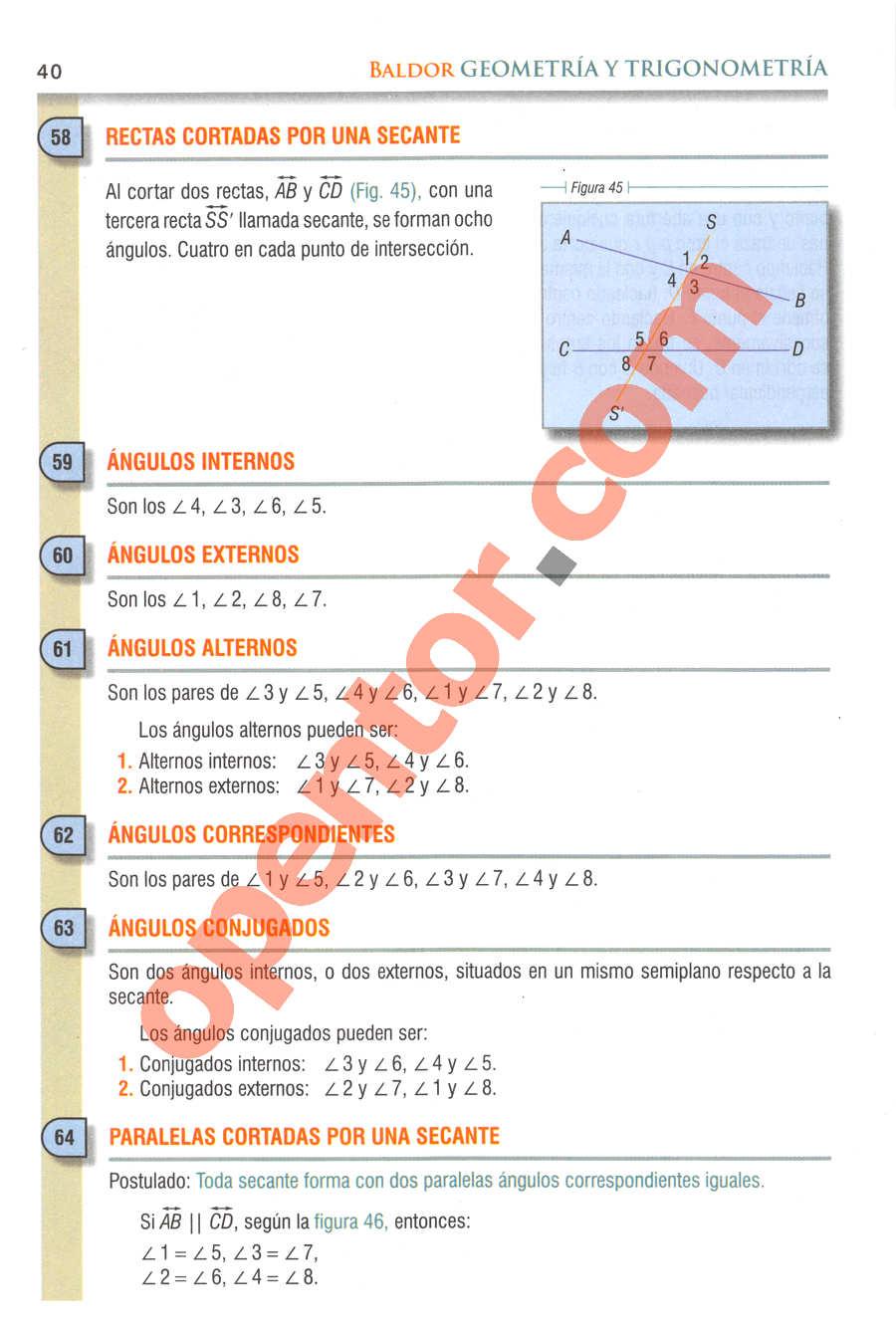 Geometría y Trigonometría de Baldor - Página 40