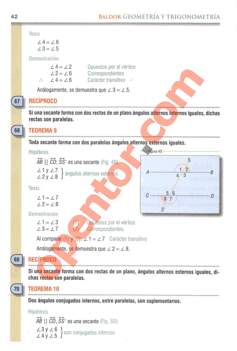 Geometría y Trigonometría de Baldor - Página 42