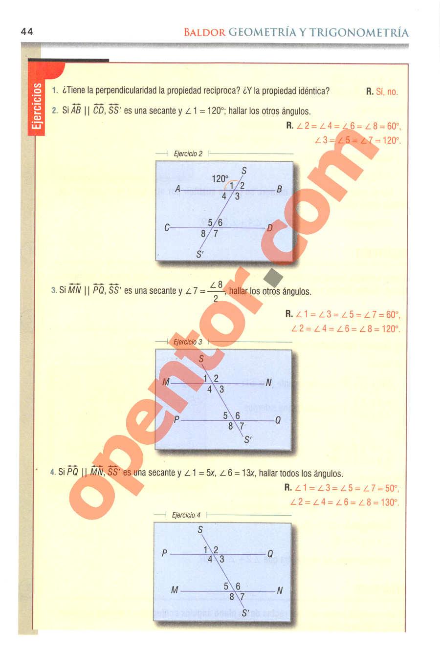 Geometría y Trigonometría de Baldor - Página 44