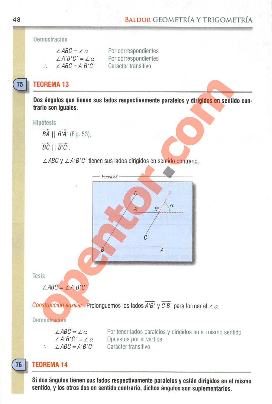 Geometría y Trigonometría de Baldor - Página 48