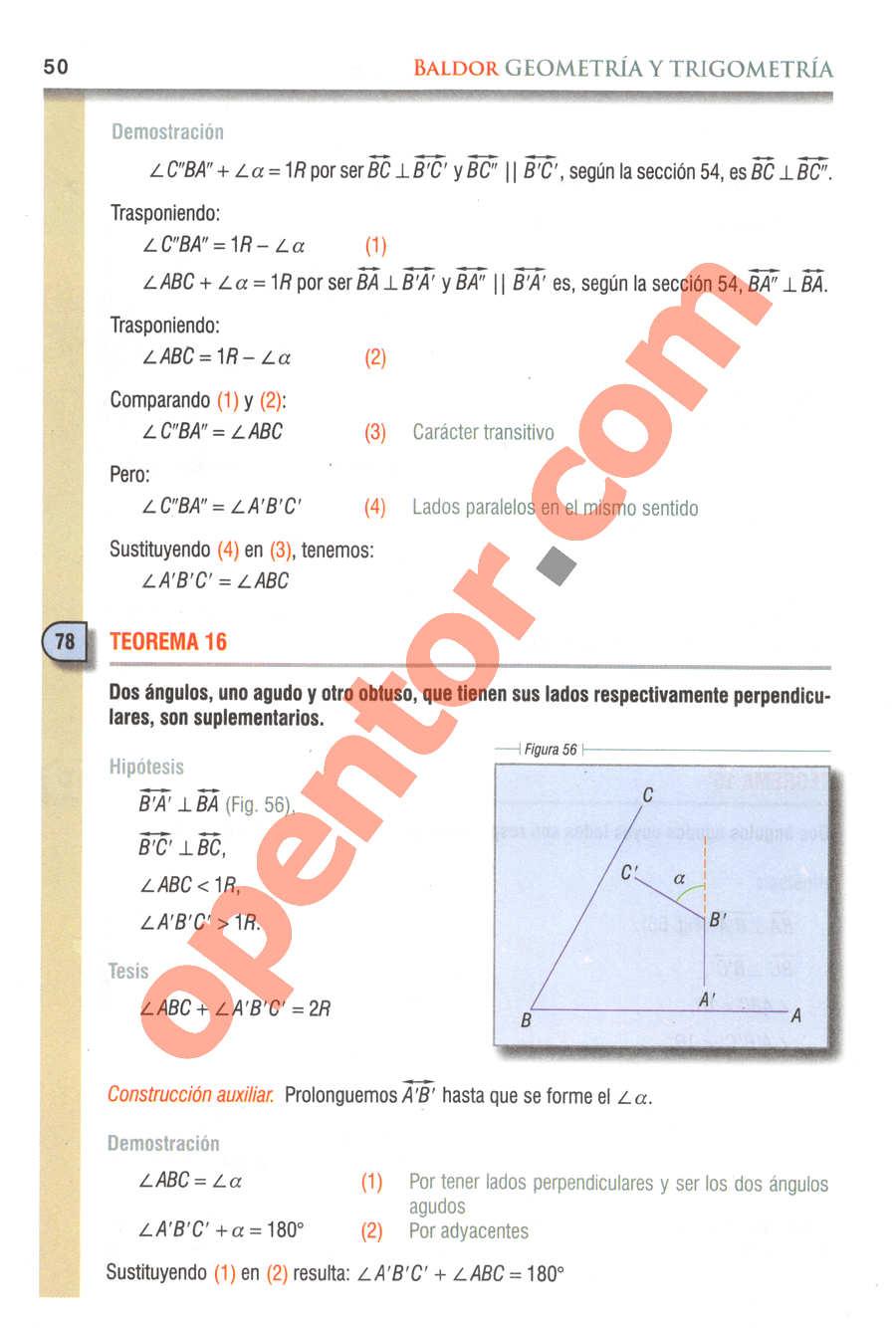 Geometría y Trigonometría de Baldor - Página 50