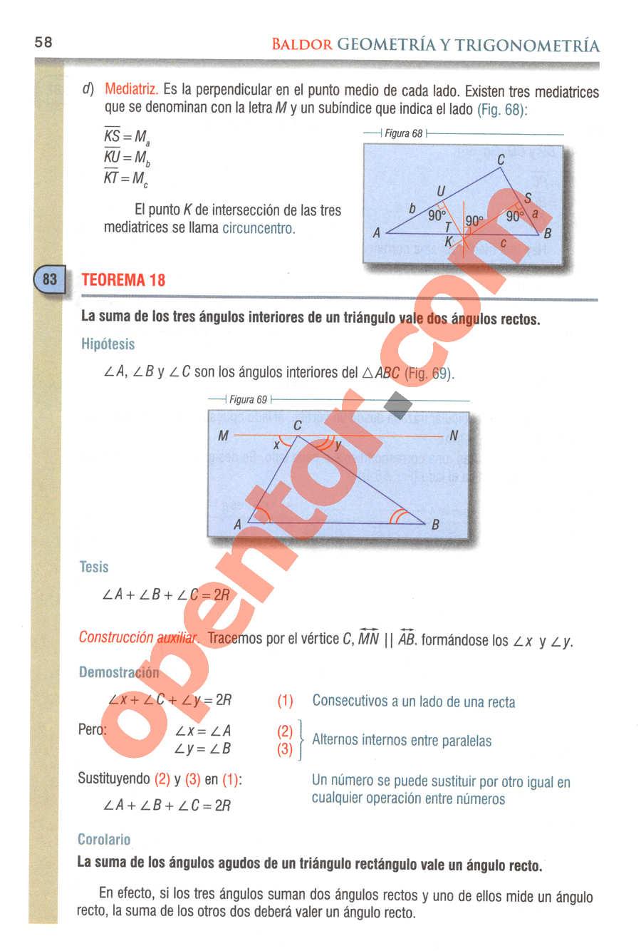 Geometría y Trigonometría de Baldor - Página 58