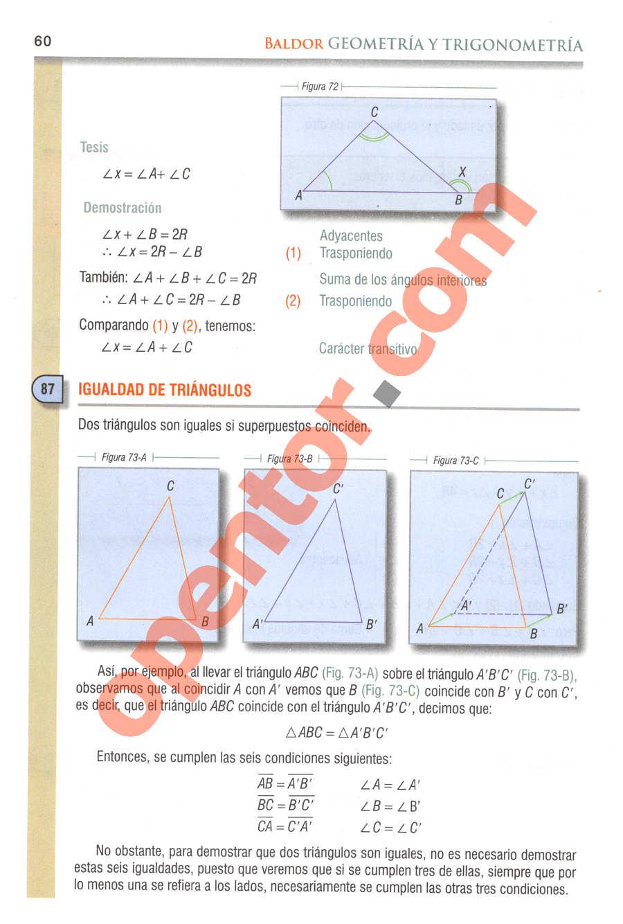Geometría y Trigonometría de Baldor - Página 60