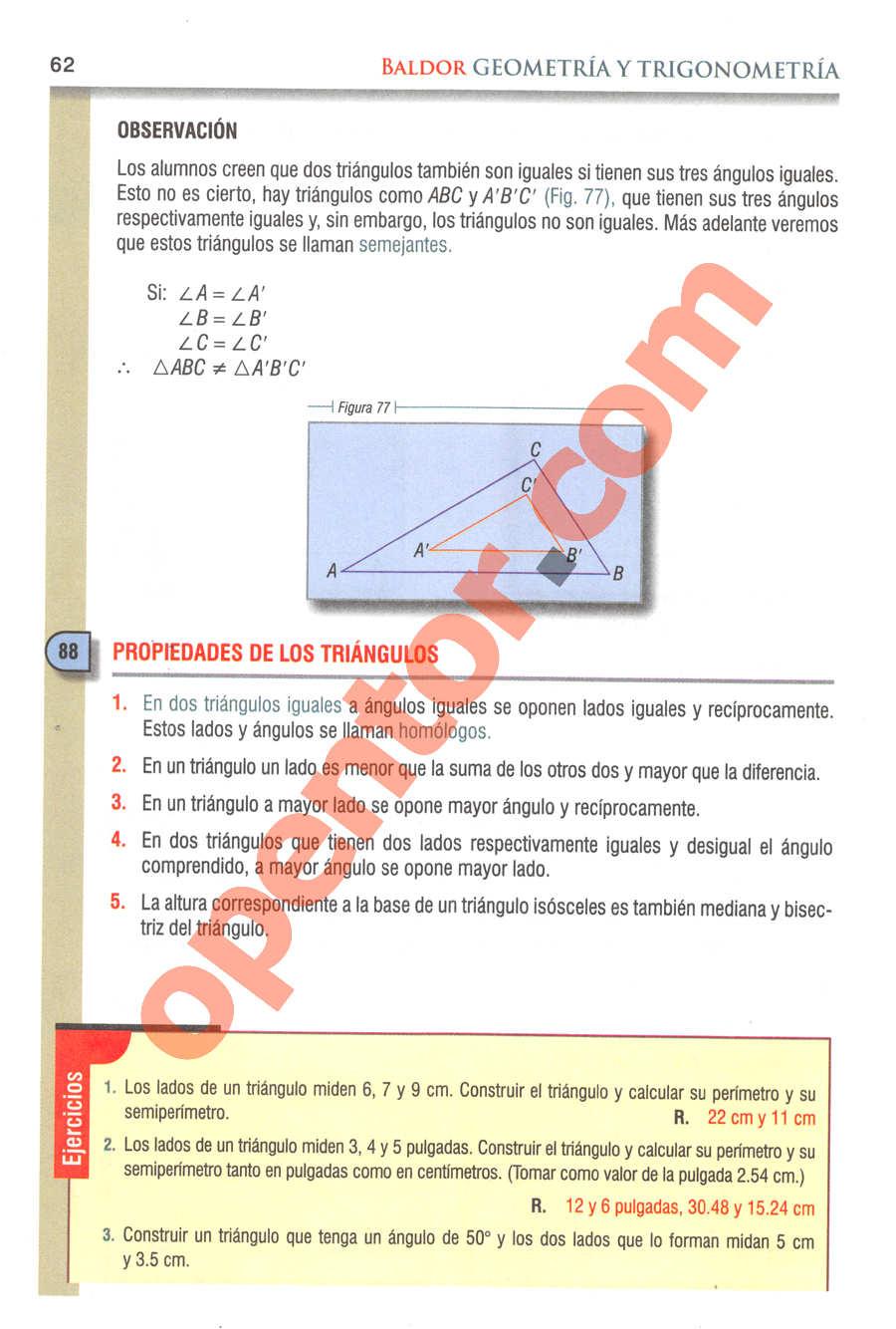 Geometría y Trigonometría de Baldor - Página 62
