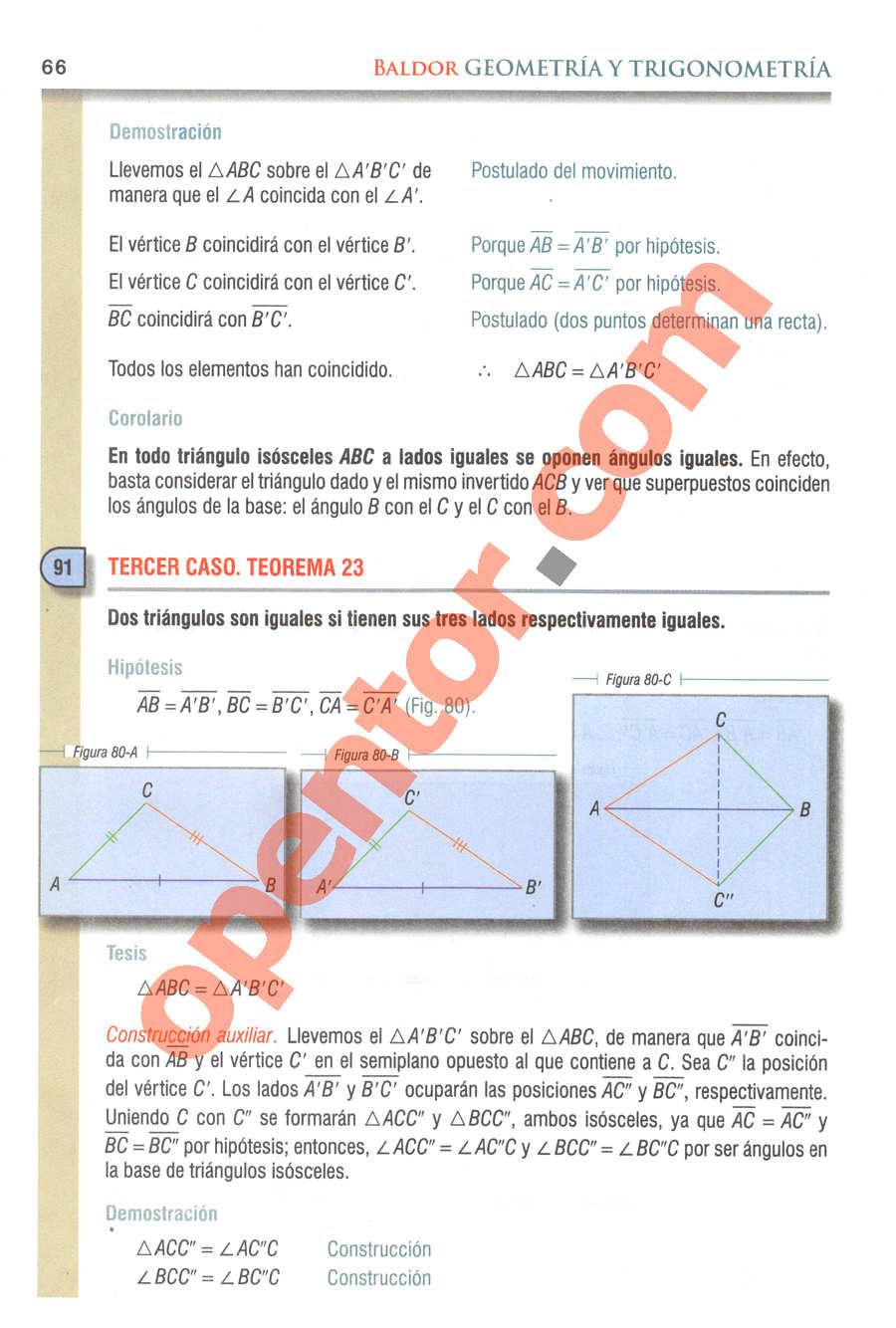 Geometría y Trigonometría de Baldor - Página 66