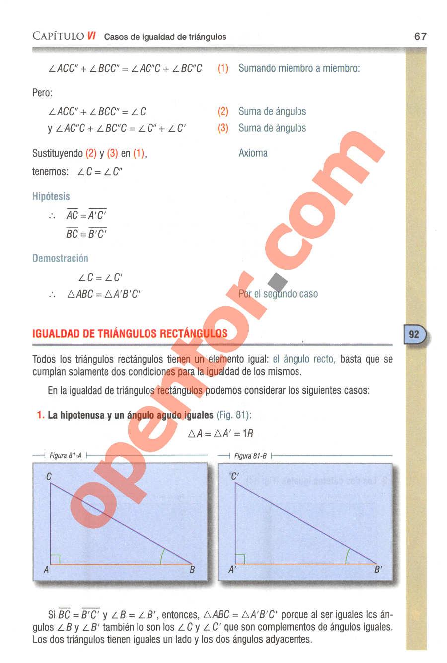 Geometría y Trigonometría de Baldor - Página 67