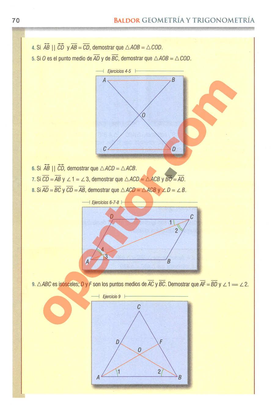 Geometría y Trigonometría de Baldor - Página 70