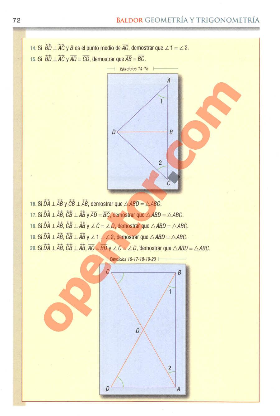 Geometría y Trigonometría de Baldor - Página 72