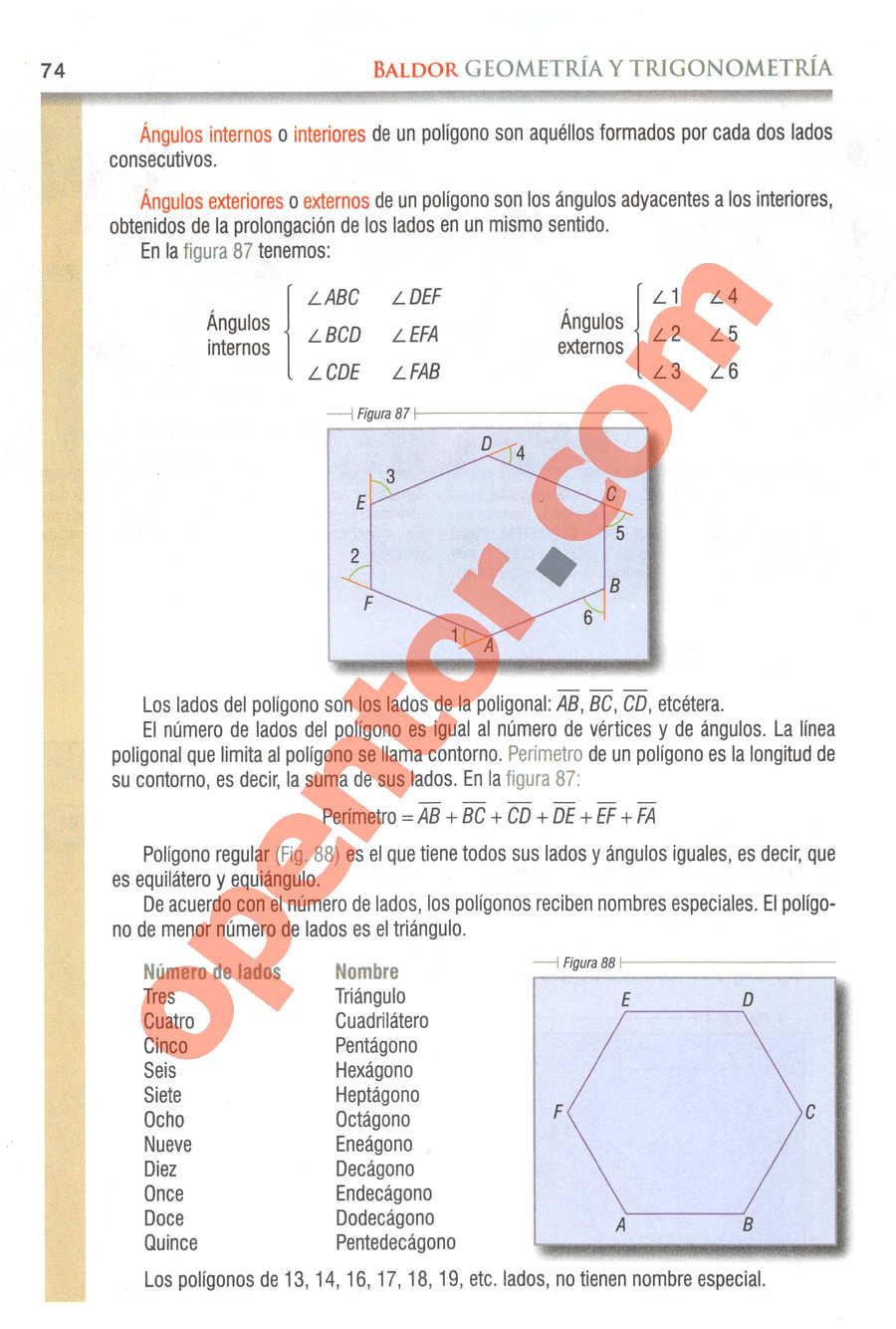 Geometría y Trigonometría de Baldor - Página 74