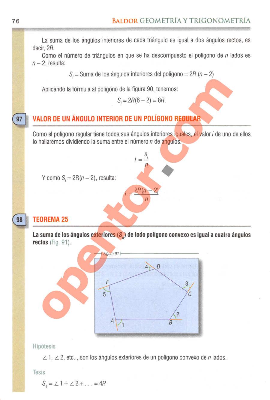 Geometría y Trigonometría de Baldor - Página 76