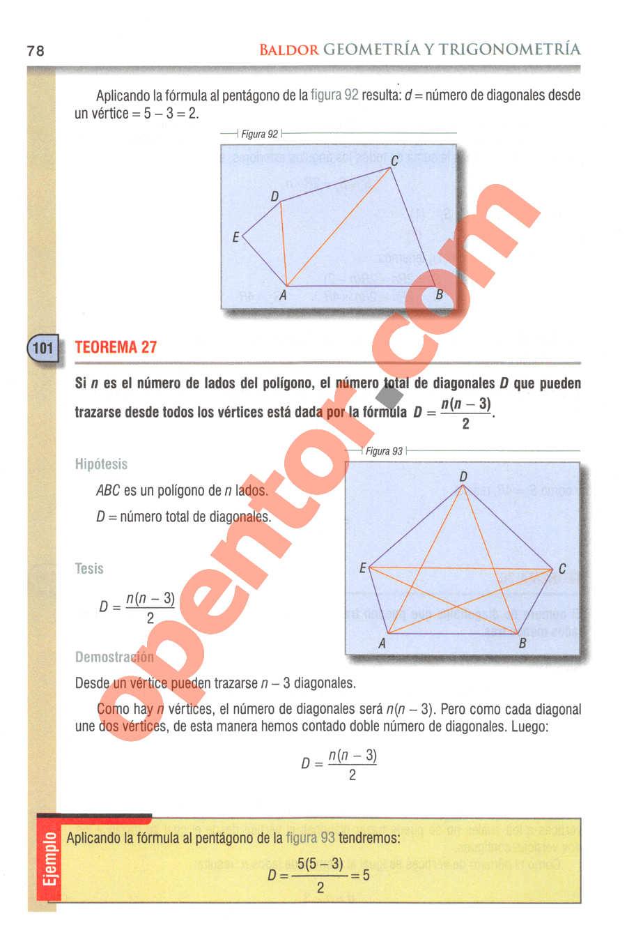 Geometría y Trigonometría de Baldor - Página 78
