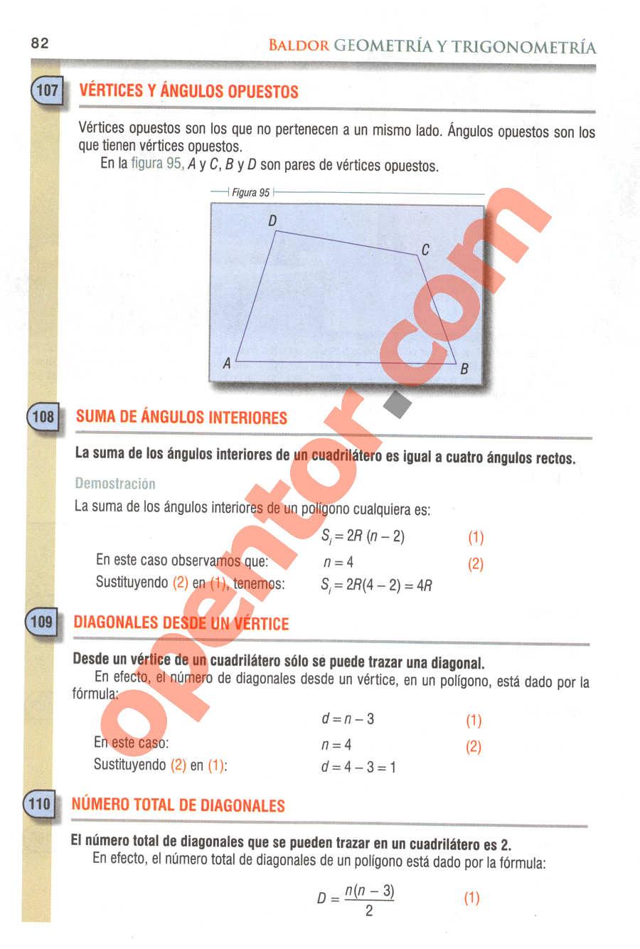 Geometría y Trigonometría de Baldor - Página 82