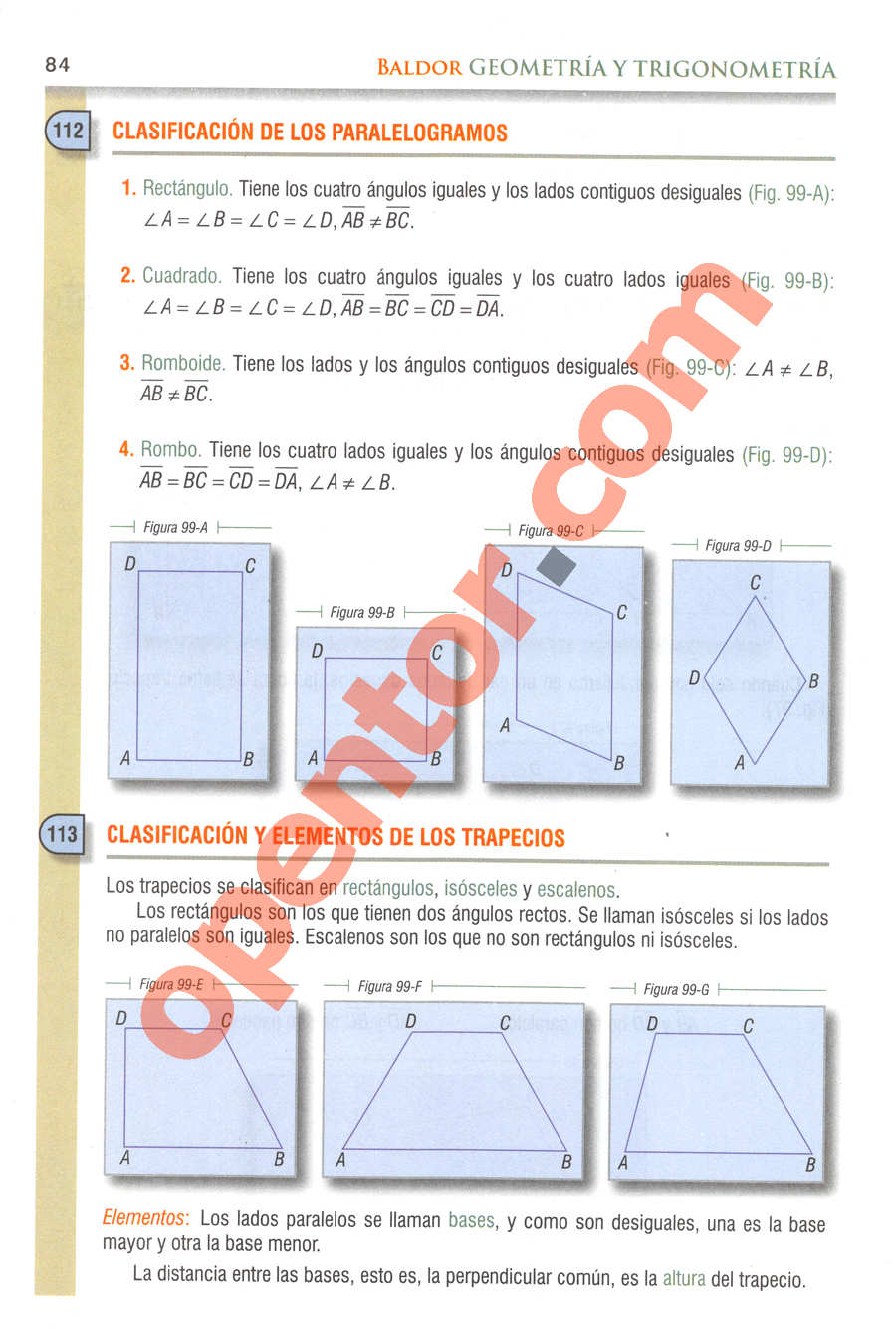 Geometría y Trigonometría de Baldor - Página 84