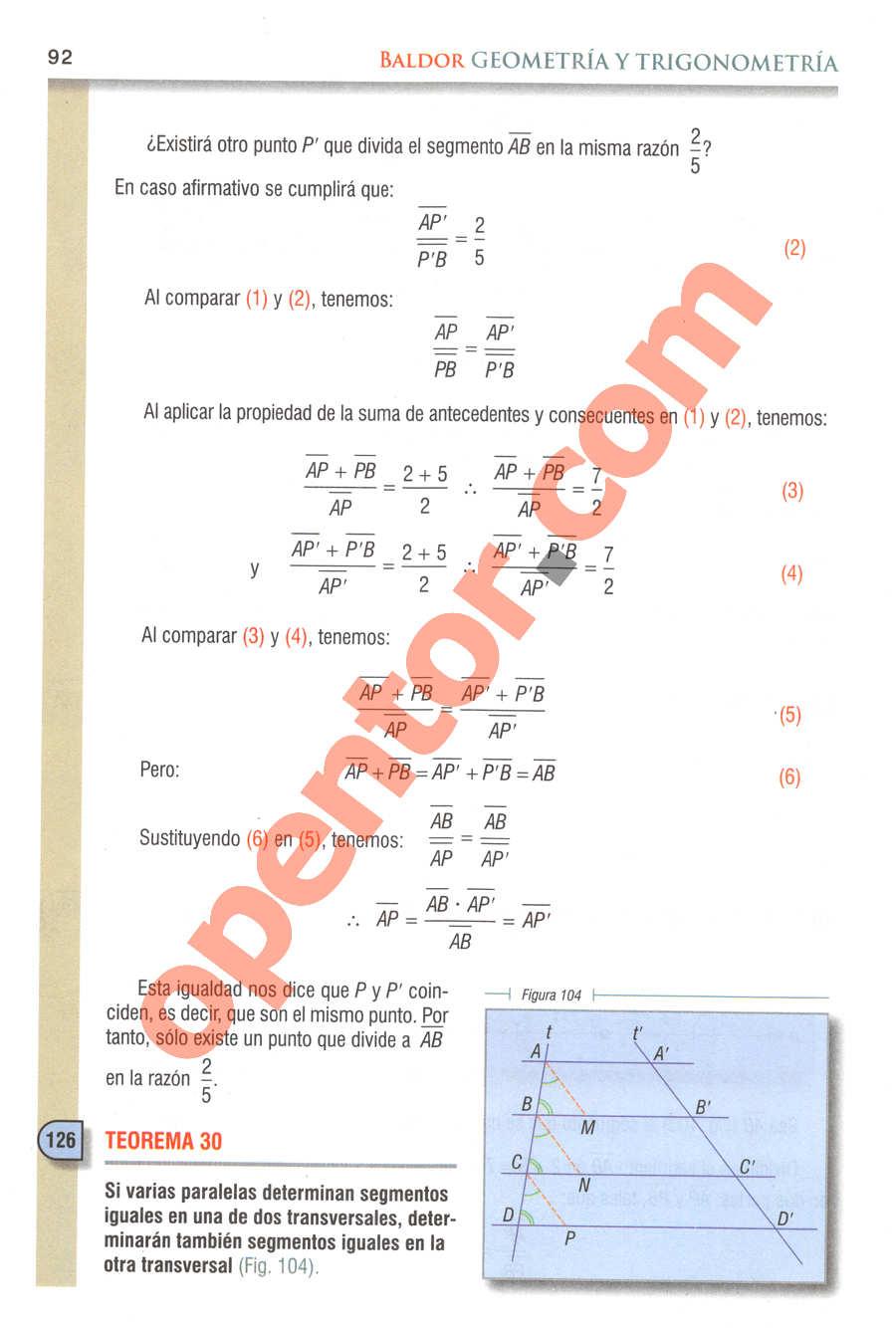 Geometría y Trigonometría de Baldor - Página 92