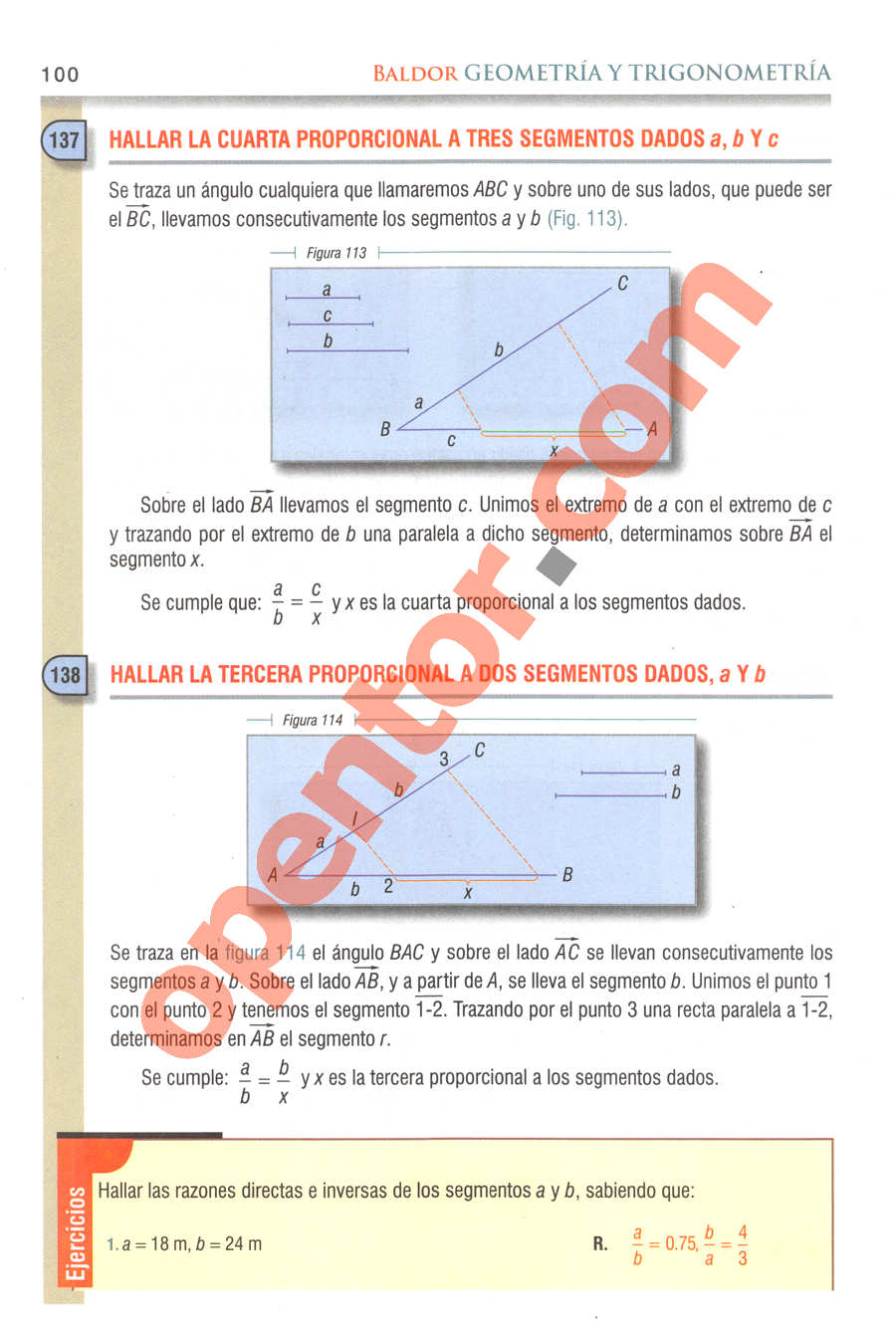 Geometría y Trigonometría de Baldor - Página 100