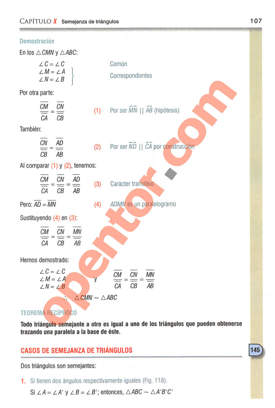 Geometría y Trigonometría de Baldor - Página 107