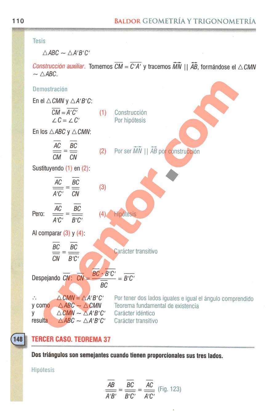 Geometría y Trigonometría de Baldor - Página 110
