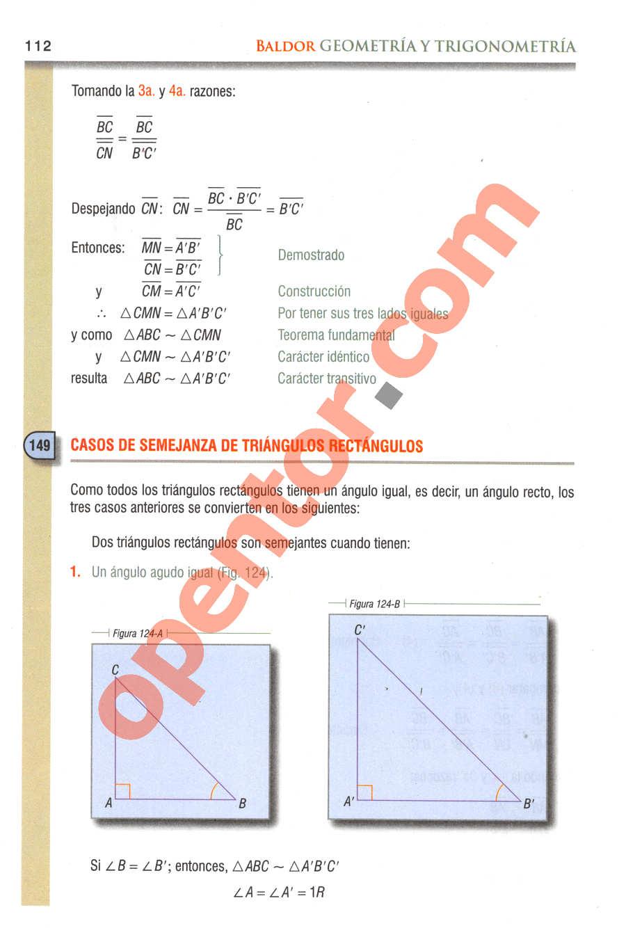 Geometría y Trigonometría de Baldor - Página 112